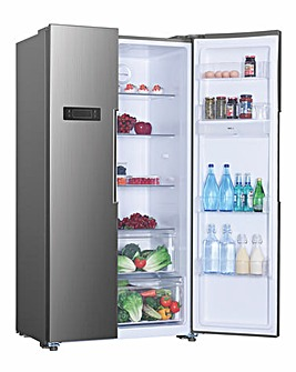 Hoover HHSBSO 6174XK American Fridge Freezer Stainless Steel