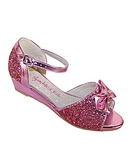 Sparkle Club Pink Glitter Sandals
