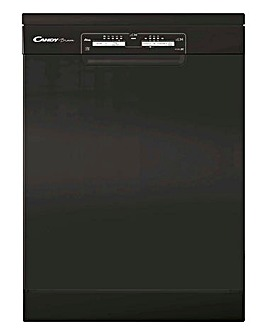 Candy CDPN1L390PB 13 Place Settings Free Standing Dishwasher Black