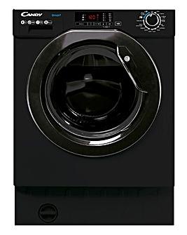 Candy CBW 48D1BBE Integrated 8kg 1400rpm Washing Machine - Black