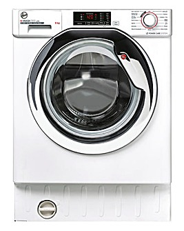 Hoover HBWS49D1ACE 9kg Washing Machine Chrome Door