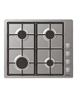 Candy CHG6LX 60cm Gas Hob Stainless Steel + INSTALLATION