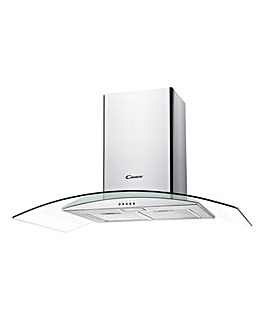 Candy CGM94/1X 90cm Curved Glass Chimney Hood Stainless Steel