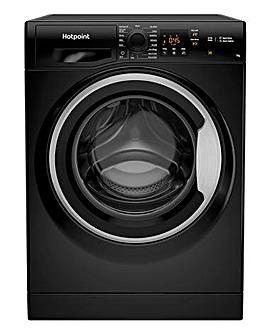HOTPOINT NSWM742UBSUKN 7KG 1400 Spin Washing Machine BLACK + INSTALL