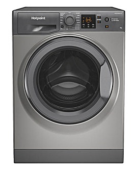 HOTPOINT NSWM843CGGUKN 8KG 1400 Spin Washing Machine GRAPHITE + INSTALLATION