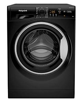 HOTPOINT NSWM843CBSUKN 8KG 1400 Spin Washing Machine BLACK