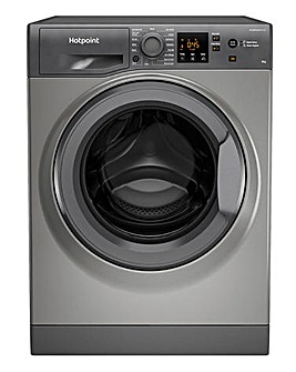 HOTPOINT NSWM943CGGUKN 9KG 1400 Spin Washing Machine GRAPHITE