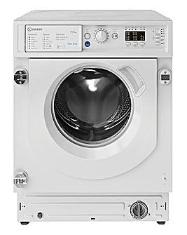 INDESIT BIWDIL75125UKN 7+5KG 1200 Spin Integrated Washer-Dryer WHITE