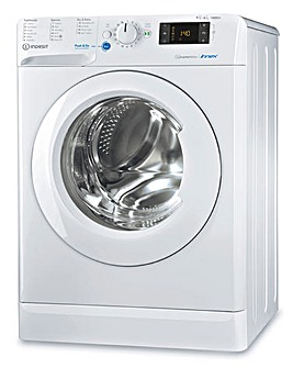 INDESIT BDE961483XWUKN 9+6KG 1400 Spin Washer-Dryer WHITE