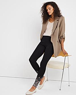 Cotton Rich Stretch Boarder Print Legging