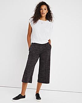 Soft Stretch Marl Wide Leg Trouser