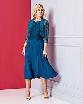 Nightingales Embroidered Dress and Shrug
