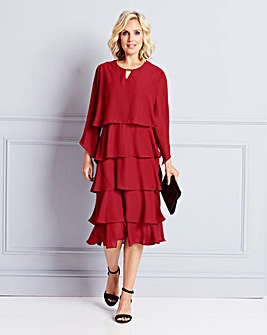Nightingales Berry Layered Dress