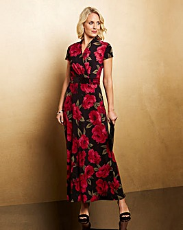 Nightingales Print Jersey Maxi Dress