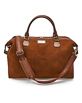 Tan Suede Weekender Bag