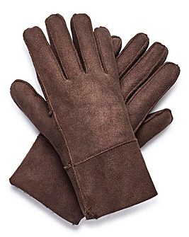 Capsule Brown Shearling Gloves