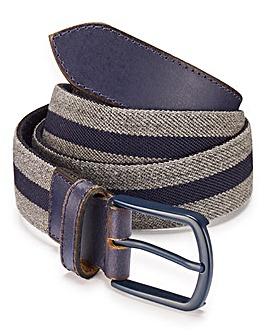 Capsule Grey Stretch Canvas Belt