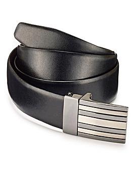 Capsule Black Flat Buckle Smart Belt