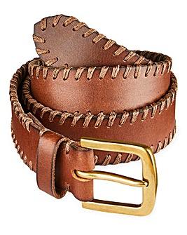 Capsule Brown Stitch Detail Belt