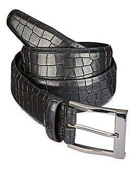 Formal Croc Print Leather Belt