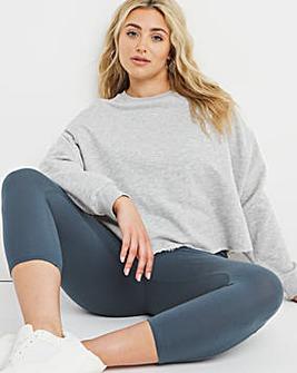 Slate Cotton Crop Legging