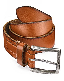 Capsule Brown Burnished Edged Belt
