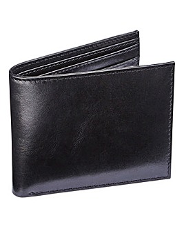 Capsule Black Leather Flip Wallet