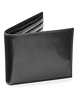 Capsule Black Button Fasten Wallet
