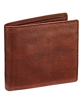 Capsule Brown Leather Flip Wallet