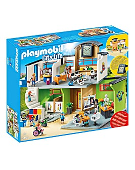 Playmobil 9453 City Life Furnished School Building with Digital Clock