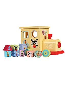 Bing Wooden Shape Sorter Train with Light & Sound
