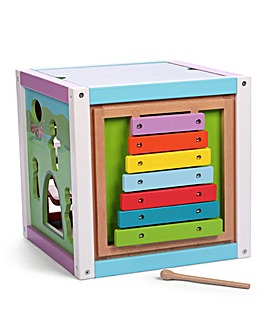 In The Night Garden Wooden Activity Cube with Bead Action Topper