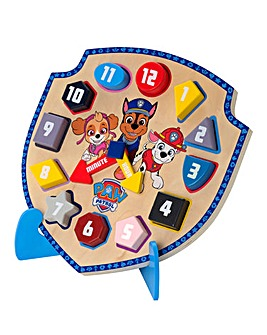 Paw Patrol Wooden Clock with Stand