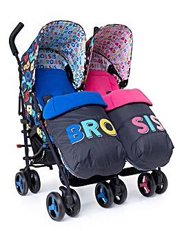 Cosatto Supa Dupa 3 Twin Stroller - Bro & Sis 6