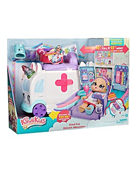 Kindi Kids Fun Unicorn Ambulance Playset
