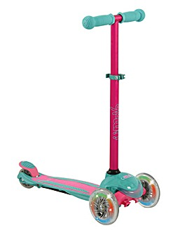 U Move MINI Compact LED Scooter - Pink /Teal