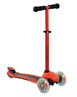U Move MINI Compact LED Scooter - Red / Black