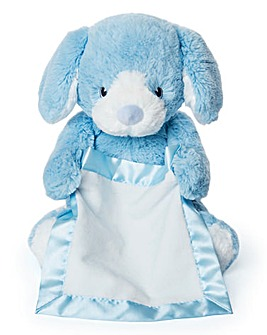 Gund Peek A Boo Puppy-Blue