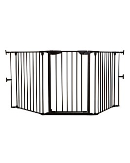 Dreambaby Newport 3-Panel Metal Adapta Barrier/Gate - Black Metal