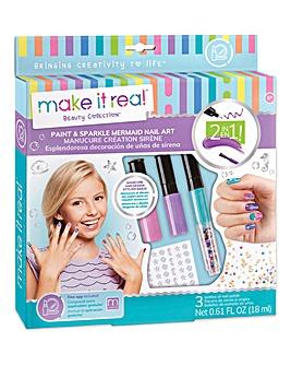 Make It Real Paint & Sparkle Nail Art: Mermaid Spa