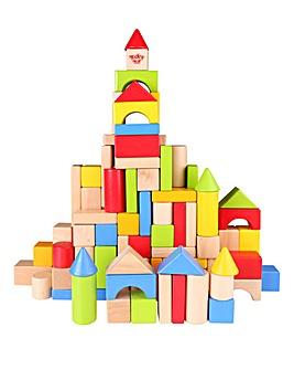 Tooky Toy Wooden 100pcs Blocks