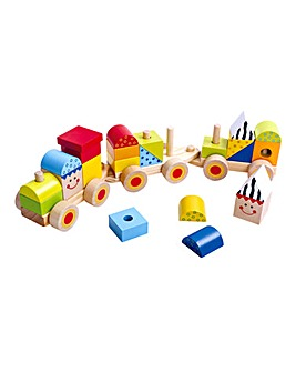 Tooky Toy Wooden Stacking Train