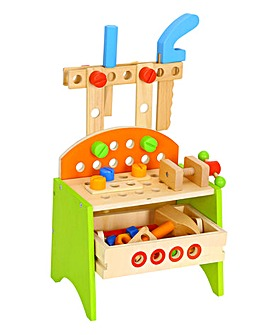 Tooky Toy Wooden Work Bench