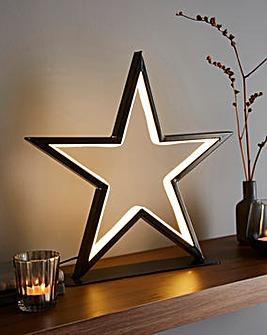 Metal Frame Neon Star Light