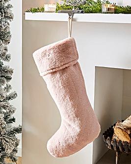Luxury Faux Fur Christmas Stocking 50 x 25cm