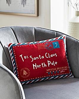 To Santa Claus Letter Cushion 30 x 50cm