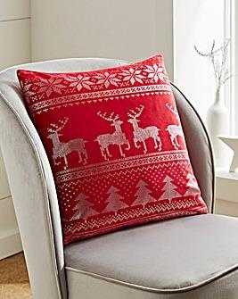 Nordic Metallic Printed Cushion 45 x 45cm