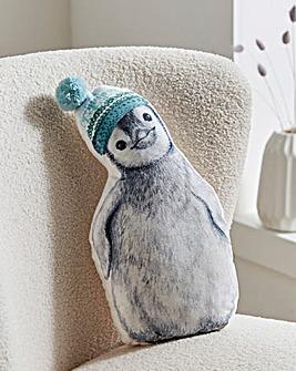 Pip The Penguin Velvet Cushion