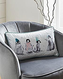 Pip The Penguin & Friends Velvet Cushion 30 x 50cm