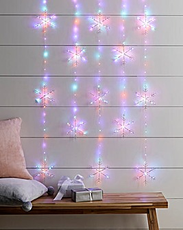 Snowflake Pinwire Rainbow Twinkling Window Lights